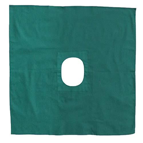 1 Stück OP-Abdecktücher mit Loch aus Baumwolle für Schönheitssalons - 60x60cm
