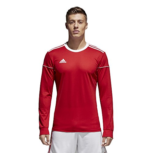 adidas Squadra 17 Long-Sleeve Jersey - Men's Soccer M Power Red/White