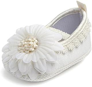 Ruimin 1PC Baby Girl Infant Satin Shoes Satin Sticker Shoes Soft Bottom Shoe