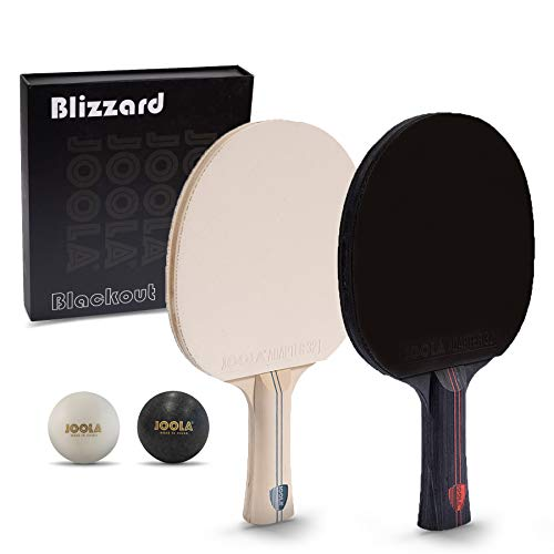 JOOLA Blizzard & Blackout - Competition Ping Pong Paddle Set - Includes...