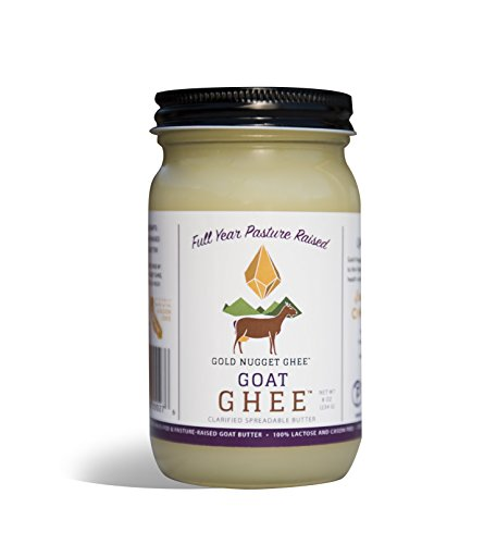 GOAT GHEE A2/A2 BY GOLD NUGGET GHEE, FULL-YEAR/PASTURE-RAISED, GRASS-FED, KETO & PALEO 8oz