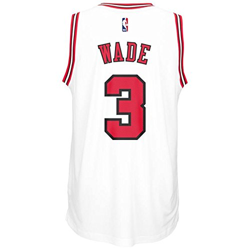 adidas Chicago Bulls Dwyane Wade White Swingman Jersey f6765455d