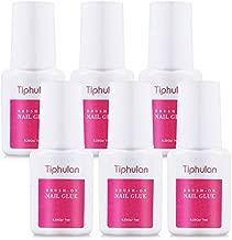 Tiphulan Brush on Nail Glue for Broken Nails - 6pcs Nail Glue for Acrylic Nails, Quick & Strong False Nail Tip Glue, Adhesive Super Nail Bond, Nail Glue Bulk for Fake Nails 7ML/0.23OZ