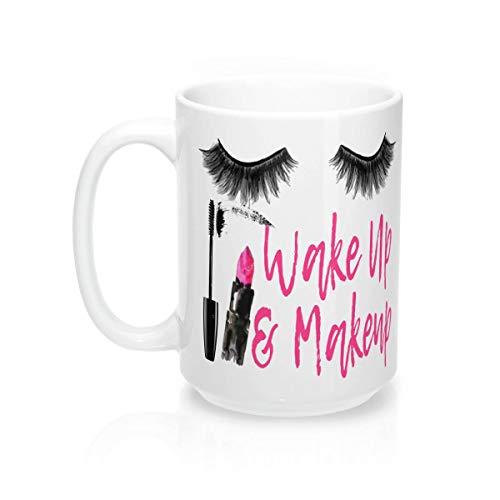Wakker worden en make-up koffie mok alles wat ik nodig heb is mascara en koffie make-up cadeau voor haar younique moeders dag Pretty me roze