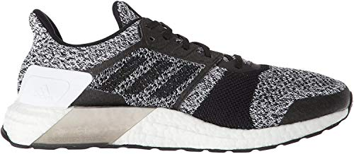 adidas Men's Ultraboost ST Running Shoe, White/Black/Silver Metallic, 7.5 M US