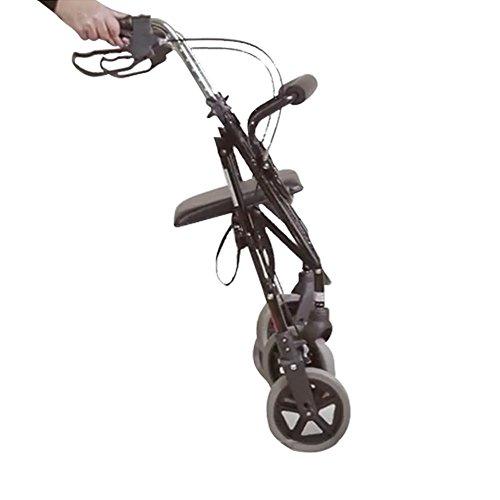 NRS Healthcare M39634 - Andador con 4 ruedas, asiento y cesta