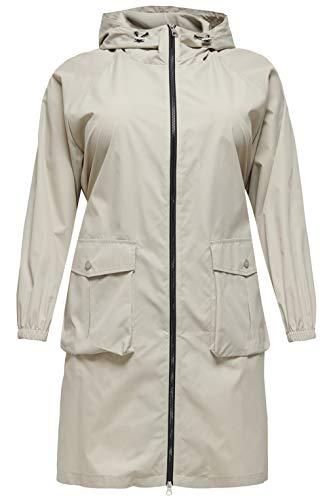 ONLY Carmakoma CARMALIKA Malou Hood Coat OTW Abrigo, Pelican, XL-54 para Mujer