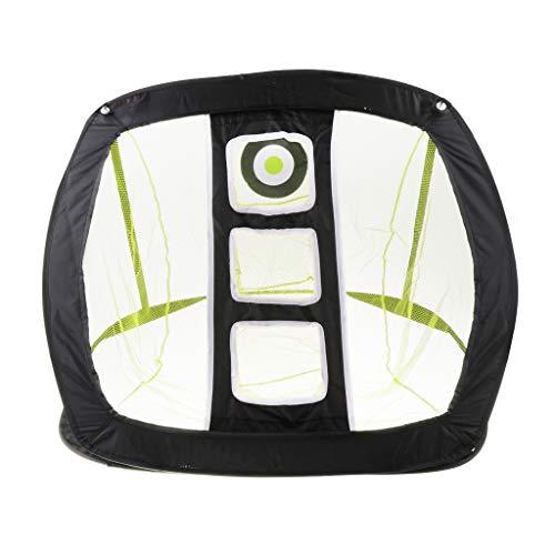 Pop Up Golf Chipping Net, Pliable Golf Target Net avec Sac - Extérieur/Intérieur Golf Accessoires pour la Vitesse, Swing Pratique améliorer la précision, la stabilité,Jaune