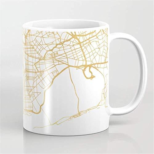 New York City Street MAP Art - Taza de café