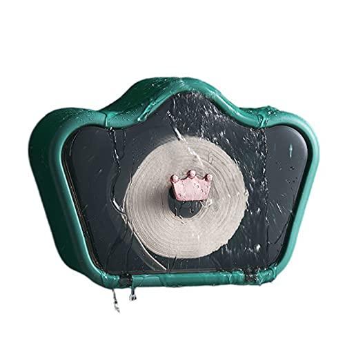 Caja de tejido montada en pared, soporte de papel higiénico a prueba de polvo Organizador de cosméticos/estante de la servilleta, para baño/sala de estar/de escritorio/oficina/Dormitorio Tocador