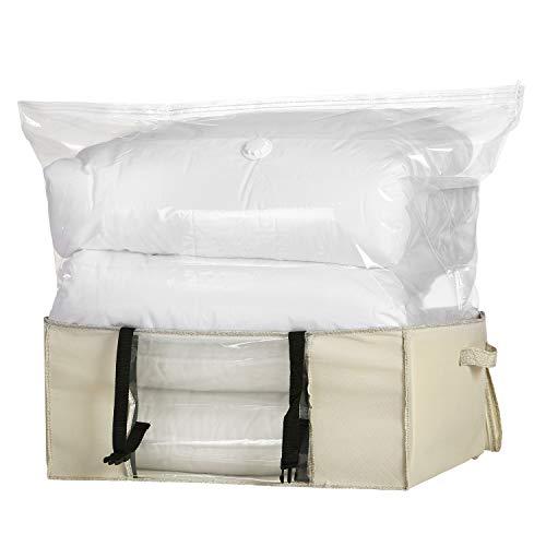 Leaf House Vakuumbeutel Vakuum Soft Box mit Schnallen für Bettdecken Bettwäsche Kissen Kleidung-XXL