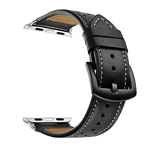 QINJIE Correas de Cuero compatibles con Apple Watch 6/5/4/3/2/1 Dots Correa de Cuero Correa de Cuero Elegante y Transpirable Correa de Repuesto,E,42MM