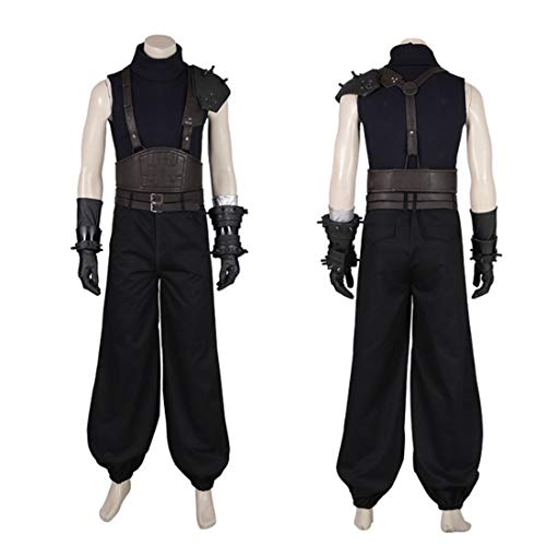 Macium Cosplay Set, Final Fantasy VII Remake Cloud Strife Cosplay Kostüm FF7 Final Fantasy 7 Cosplay Kostüm Full Set - XL (Ohne Schuhe)