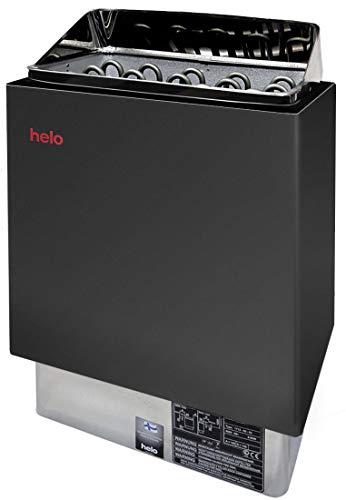 HELO CUP D GRAPHITE SAUNAOFEN 4,5/6 / 8/9 kW + Steine (6 kW/ausreichend für 5-9 m³)