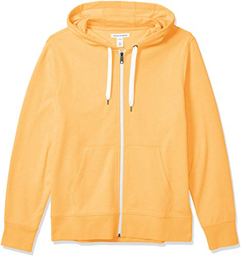 Amazon Essentials Men's Lightweight French Terry Full-Zip Hooded Sweatshirt, Yellow, X-Large