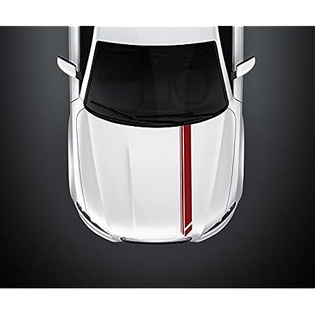14 X 100 Cm Viperstreifen Motorhaube Race Stripes Tuning Rallye Streifen Rennstreifen Auto Aufkleber Viper 2n360 1 Farbe Rot Glanz Küche Haushalt