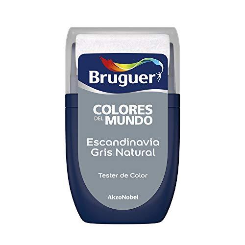 Bruguer Tester Colores del Mundo Pintura para paredes monocapa Escandinavia Gris Natural, 30 mililitros
