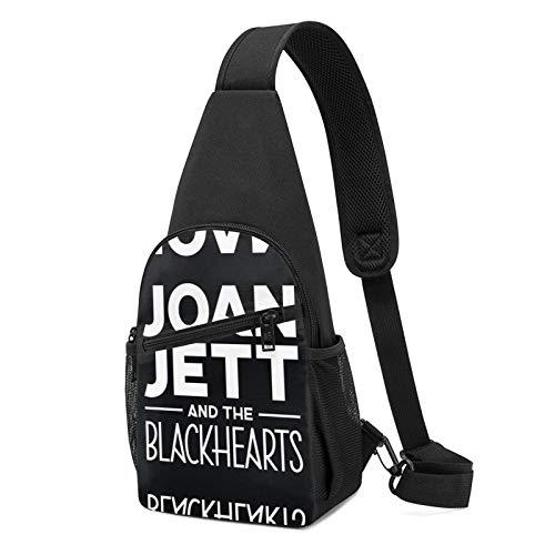 Sling Bag für Herren Anti-Diebstahl Schulterrucksack Leichte Crossbody Outdoor & Gym, Schwarz - Joan Jett Black3 - Größe: Einheitsgröße