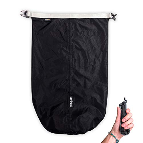 SIDE BY SIDE_Waterproof Dry Bag 10L - Roll Top Compression Lightweight and Durable Sack for Water Sports, Travel, Laundry, Shoes, Beach, Kayaking, Boating, Hiking, Camping, Gym, Fitness, Yoga, etc.