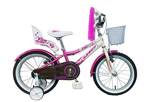 Umit 16' Diana Bicicleta Pulgadas Infantil, Unisex niños, Rosa/Blanca