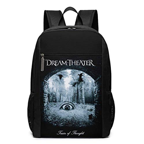Lawenp Dream Theater Train of Thought Backpack 17 Inch Laptop Bags College School Backpack Casual Daypack for Travel