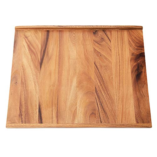 Villa Acacia Reversible Wood Pastry Board and Cutting Board with Lipped Edges, 28 x 22 x 1.5 Inches