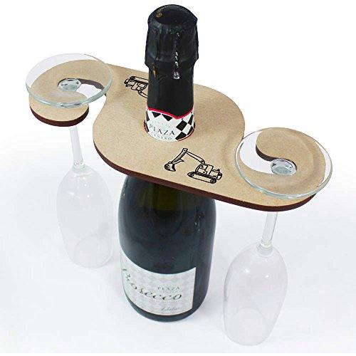 Azeeda \'Bagger LKW\' Weinglashalter / Flaschenhalter (GH00032767)