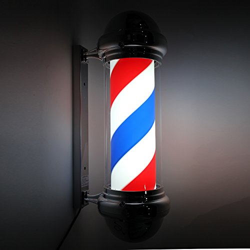 """Mefeir 30"""" Barber Pole LED Light,Classic Style Hair Salon Barber Shop Open Sign,Rotating Red White Blue LED Strips,IP44 Waterproof Save Energy"""