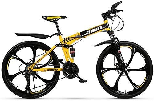 Bike CityräDer Damen Fahrrad Faltbare Mountainbike Fahrräder 24/26 Zoll MTB Fahrrad mit 10-26 Zoll_27Geschwindigkeit
