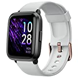 YAMAY Smart Watch, Watches for Men Women Fitness Tracker Blood Pressure Monitor Blood Oxygen Meter Heart Rate Monitor IP68 Waterproof, Smartwatch Compatible with iPhone Samsung Android Phones (Gray)