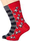 GANT D2. 2-Pack Socks Gift Box Calcetines de vestir, Color gris, Talla única para Hombre