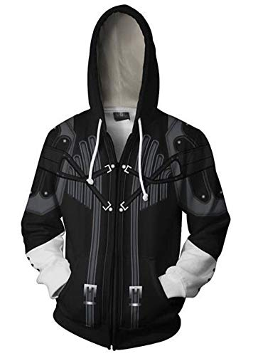 QYIFIRST Veste Zippe Pull Cartoon Manteau Wars Vader Revan Cosplay Disfraz Homme Femme Veste Gabardina Unisexe Negro 4XL (pecho 122cm)