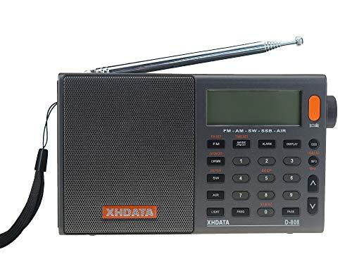 XHDATA D-808 FM/AM/SW/LW AIR SSB DSP RDS ラジオ ワールドバンドラジオ(日本語版ユーザマニュアル)