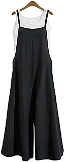 Women's Jumpsuits Casual Long Rompers Wide Leg Baggy Bibs...
