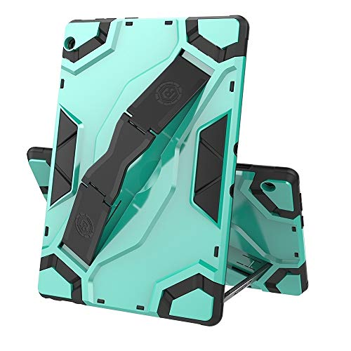 XHEVAT Funda para tablet Lenovo Tab M10 TB-X605 Escort Series TPU + PC a prueba de golpes con soporte (color: verde menta)