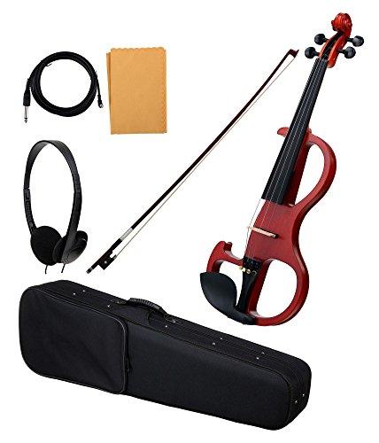 Classic Cantabile EV-90 E-Violine (E-Geige mit Tonabnehmer, Fichte/Ahorn/Ebenholz) natur matt