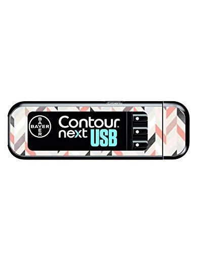 Diabetes Vinyl Sticker Bayer Contour Next USB - Geometric