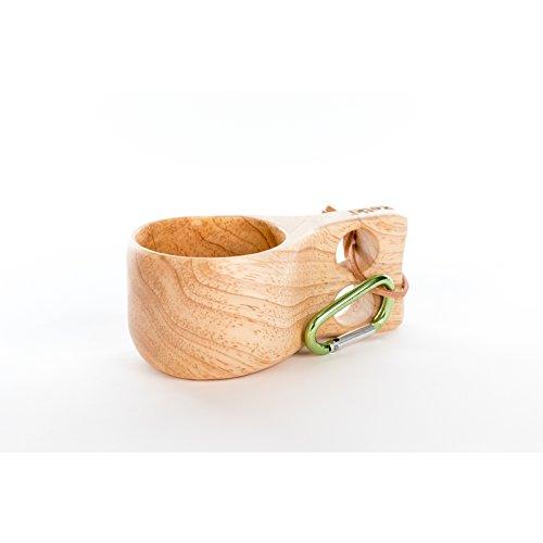 Retki Guksi Kuksa Holz-Tasse Holzbecher, Trinkgefäß, Becher aus Eiche 170 ml für Camping, Wandern, Mittelaltermarkt, Geschenkidee für Naturfreunde