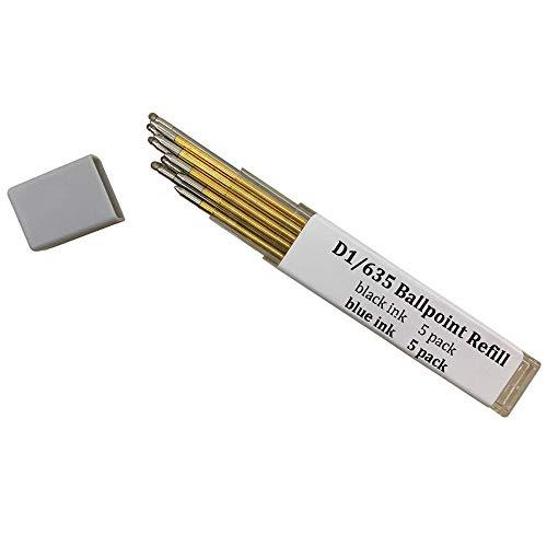 Ballpoint Pen Metal Mini Refill D1/635 Refill- Medium Point Refill for Multifunction Pen,Mini Pen Compact Pen