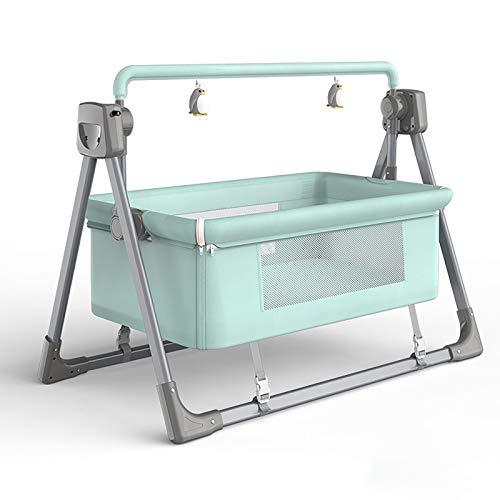 Columpio para bebé - hamaca eléctrica compacta, Silla mecedora Cama eléctrica con columpio automático para bebés, cuna mecedora para dormir para bebés pequeños, cuna para cuna, cuna segura para