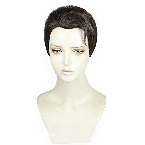 magic acgn Short Brown Anime Cosplay Wig For Men Christmas Wig ?
