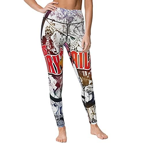 Gintamade Pantalones de yoga de cintura alta Fairy T-Ail Natsu Dragneel Entrenamiento Stretch Yoga Leggings