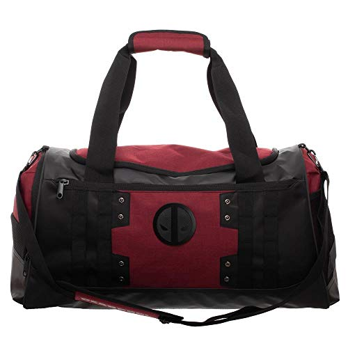 Deadpool themed duffel bag gym bag