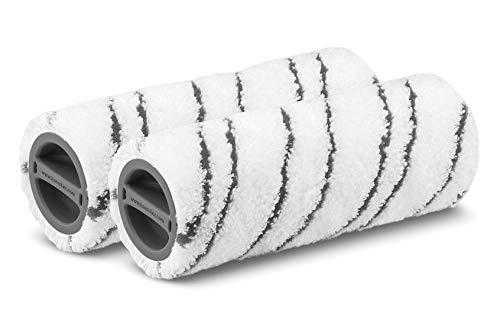 Kärcher Mikrofaserwalzenset für FC 3 und FC 5 (2-teilig, waschbar, hohe Schmutzaufnahme, schonende Feuchtreinigung aller Hartböden, fusselfrei, Maschinenwäsche 60 °C, Farbe: grau)