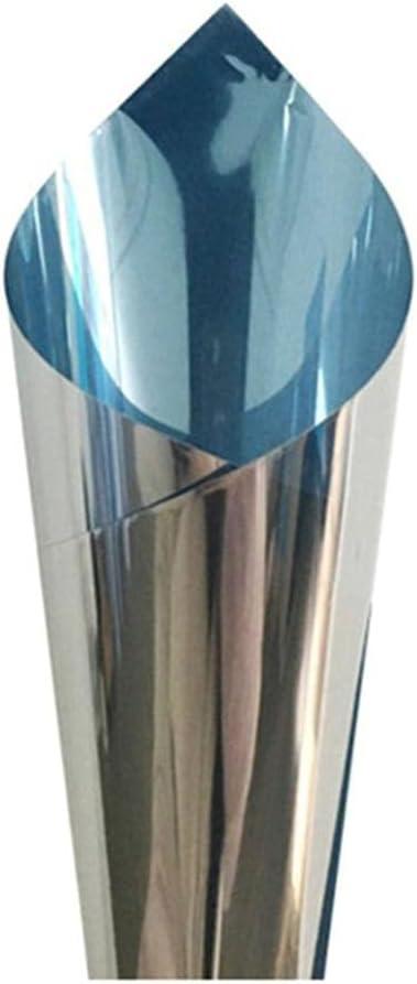 Vinilo para Ventanas Efecto Espejo Gafas Film Película irrompible para Magic Mirror Mirror Vendaje para Gafas aisladas Gafas aisladas Protección UV con Bloque de luz-40cmx200cm
