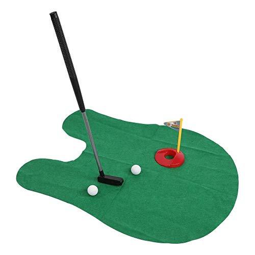 Lzdingli Golf-Trainingszubehör Mini Golf Mini WC Golf Putting Mat Golfspiel for Badezimmer mit Potty Putter for Männer, Frauen und Kinder für Golfenthusiasten