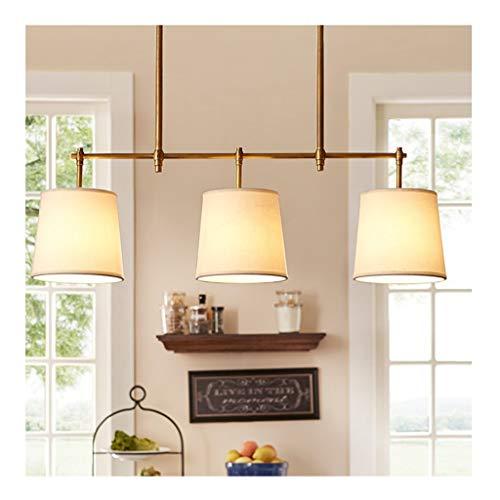 LJF Lampe . Lámpara de araña sencilla creativa para salón, dormitorio, comedor, despacho, 3 cabezales, lámpara Nordic Bar Cafe E14