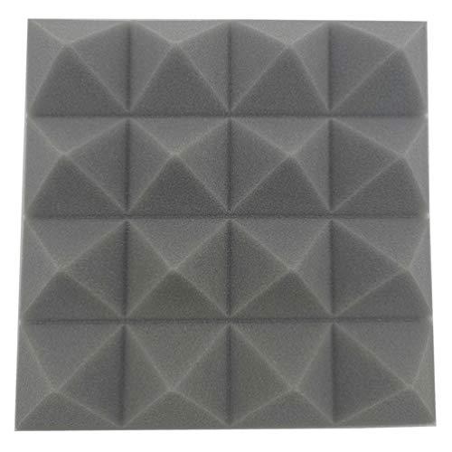12 Akustik Studio Behandlung Schaumstoff DIY Studio Schalldämmung Wand Fliesen Isolierung 25x25x5 cm (Grau)