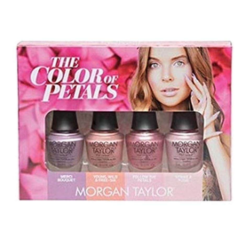 脚本オプショナル世紀Morgan Taylor - The Color Of Petals Collection - Mini 4 pk - 5 mL / 0.17 oz Each