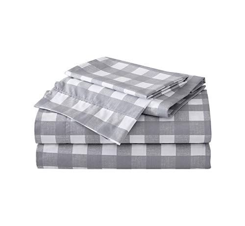 Eddie Bauer Home | Percale Collection | Sheet Set - 100% Cotton, Oeko-Tex Certified, Cool & Breathable, Perfect for Warm Sleepers, Twin, Lakehouse Plaid